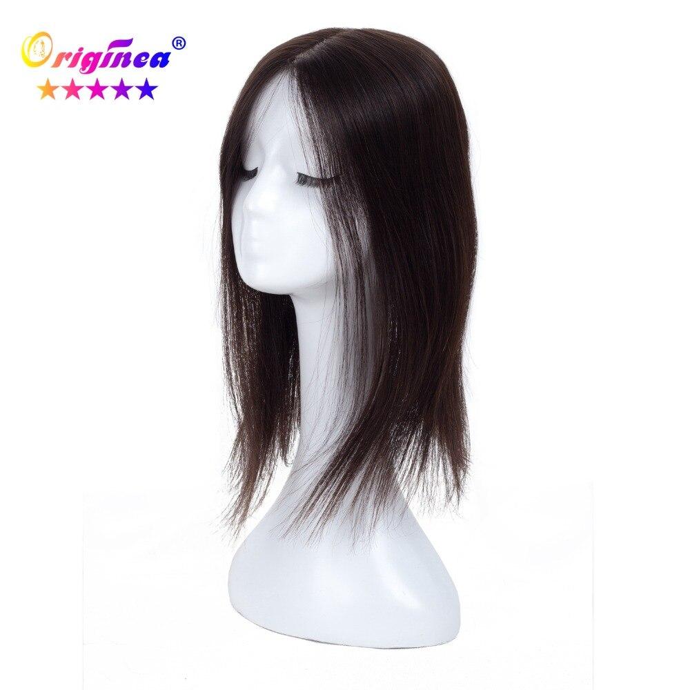 Originea Femmes Toupet de Base Net Taille 13*15 cm Cheveux Longueur 16 pouce 40 cm 100% de Cheveux Humains toupet Remplacement Système Naturel Couleur