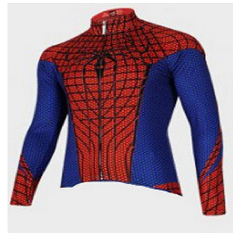 2018 Spider man winter thermal fleece Cycling jersey bicycle clothing ropa  ciclismo hombre invierno MTB bike jersey Top wear cdf6dfede