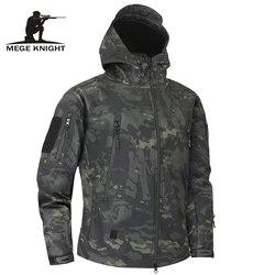 Chaqueta táctica militar de piel de tiburón Mege chaqueta impermeable de hombre de forro polar de camuflaje Multicam 4XL