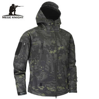Mege Shark Skin Soft Shell Military Tactical Jacket Men Waterproof Army Fleece Clothing Multicam Camouflage Windbreakers 4XL - DISCOUNT ITEM  57% OFF All Category