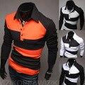 2015 Новых Прибытия Моды для Мужчин футболки Мужские Лето С Длинным Рукавом футболка Человек Хлопок Бренд Рубашки Майку Мужчина т Полный рукава