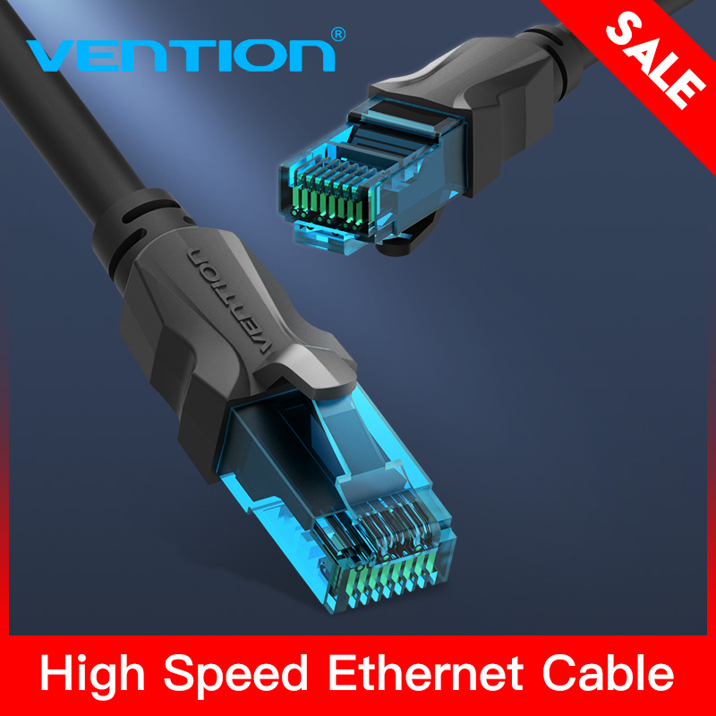 Vention Ethernet Cable Cat5e Lan Cable UTP Cat 5 RJ45 Network Patch Cable 1m 2m 3m 5m For PS2 PC Computer Router Cable Ethernet обложка для паспорта printio ice cream