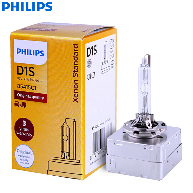 Philips <font><b>Xenon</b></font> Standard <font><b>D1S</b></font> 85415C1 <font><b>35W</b></font> Original <font><b>Xenon</b></font> HID Headlight Car Bulb Auto Lamp ECE OEM Quality (Single) image