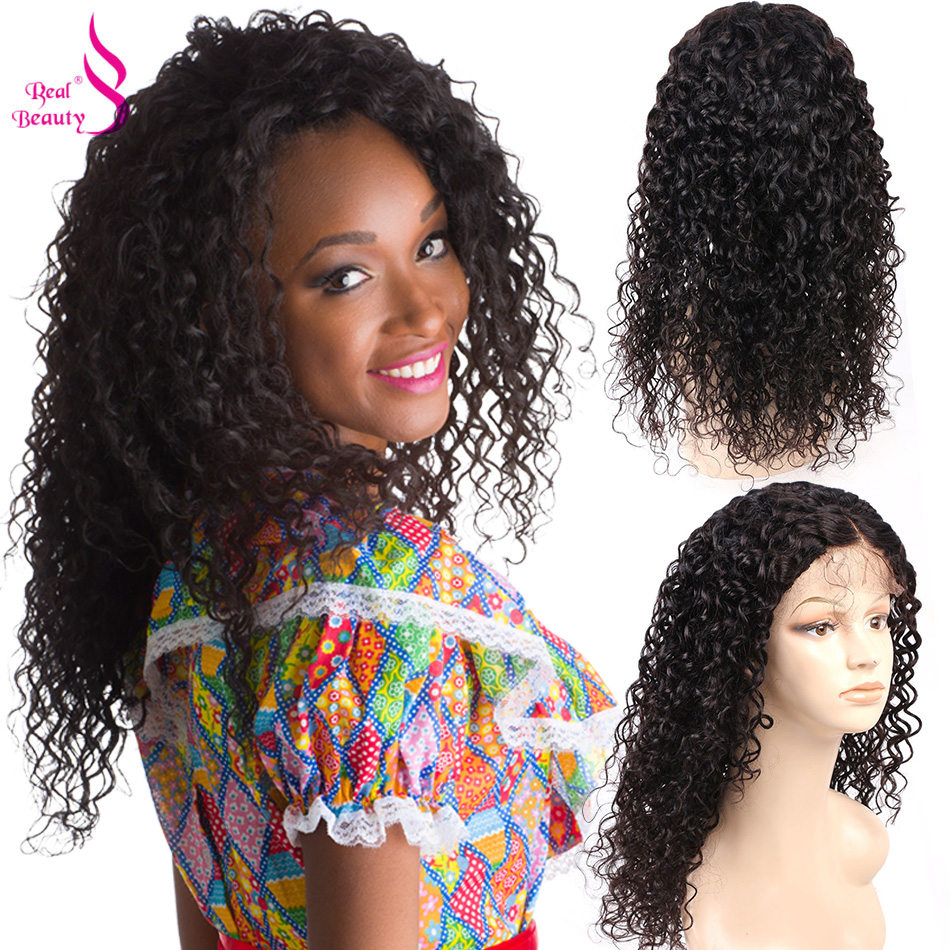 Real Beauty Lace Front Wigs Human Hair Water Wave 4x4 U