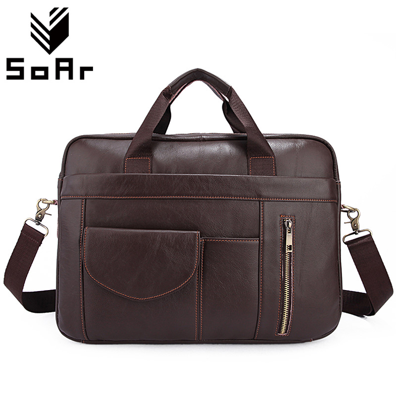 SoAr Man Messenger Bag Men Leather Genuine Casual Men Bag Shoulder Crossbody Handbags Male Laptop Handbag New Fashion Travel Bag 2015 new korean men s messenger bag brand shoulder bag fashion crossbody bag handbags for male free shipping