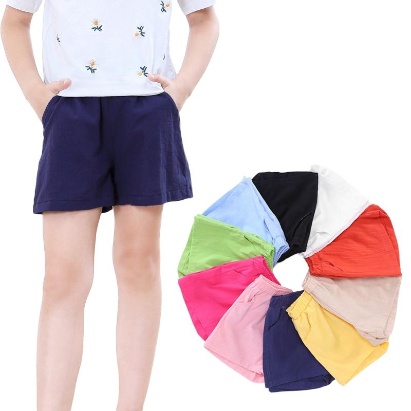 e0f7cbd39 2018 nuevos pantalones cortos de verano para niñas, pantalones cortos de  algodón para niños, pantalones cortos sueltos, ropa de playa 2-10 años