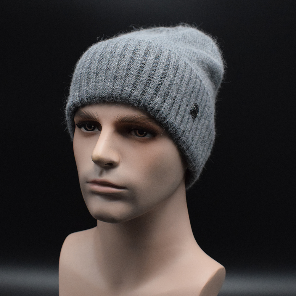 Winter High quality thick wool caps for Men European style Solid color   Skullies     Beanies   hat Men casual caps Gorros