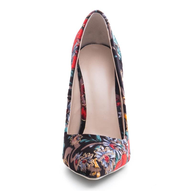 10cm Mujer Altos 12cm Más Tamaño 8cm Doratasia Puntiagudos Zapatos Heel  Color Color Bombas 45 Tacones Flock Color Thin Estampado Casual ... 3488a0049f5f