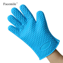 Silicone Heat Resistant Multi-Purpose Grilling Bbq Gloves Cooking Baking Opening Cans Baking Kitchen Tools Bakeware Decor 52106