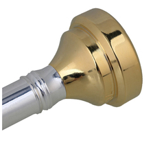 New Silver Trumpet Mouthpiece with Golden 4 Sizes Convertible 7c 5c 3c 1c