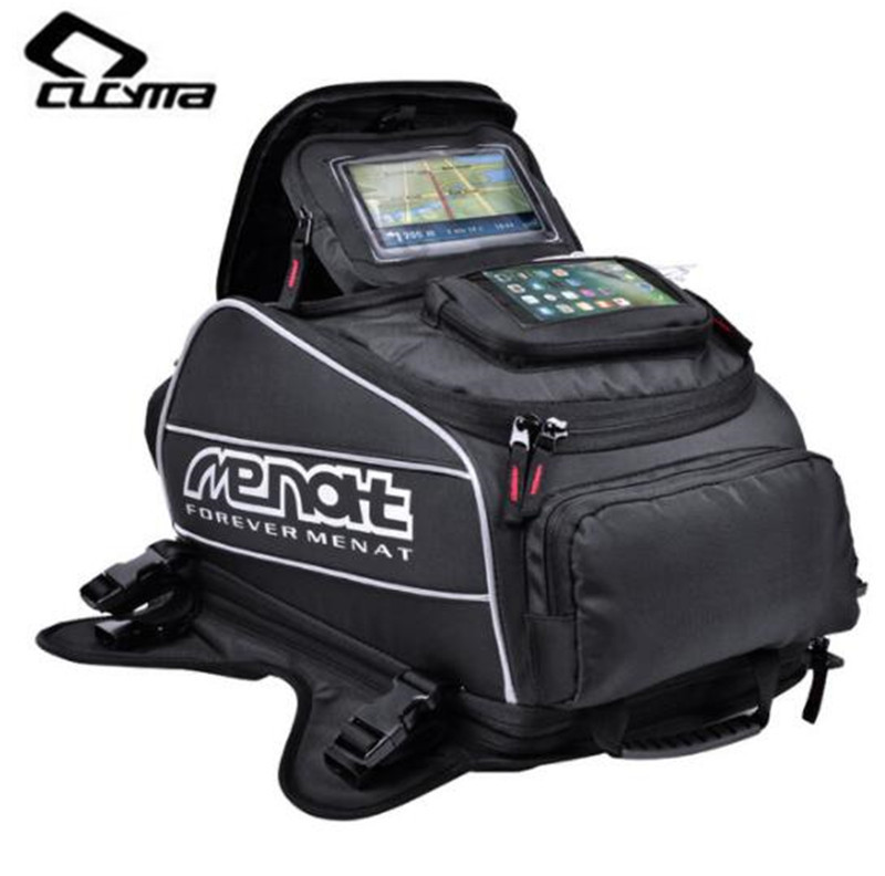 цена на CUCYMA Motorcycle Bag Waterproof Motorcycle Backpack Multi-function Motorcycle Oil Fuel Tank Bags Oxford Saddle Bags