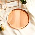 Nordic Metall Rose Gold Büro Tisch Ablage Skandinavischen Vogue Schmuck Kleinigkeiten Schreibtisch Lagerung Pad Organizer Decor für Hause Ablagen Heim und Garten -