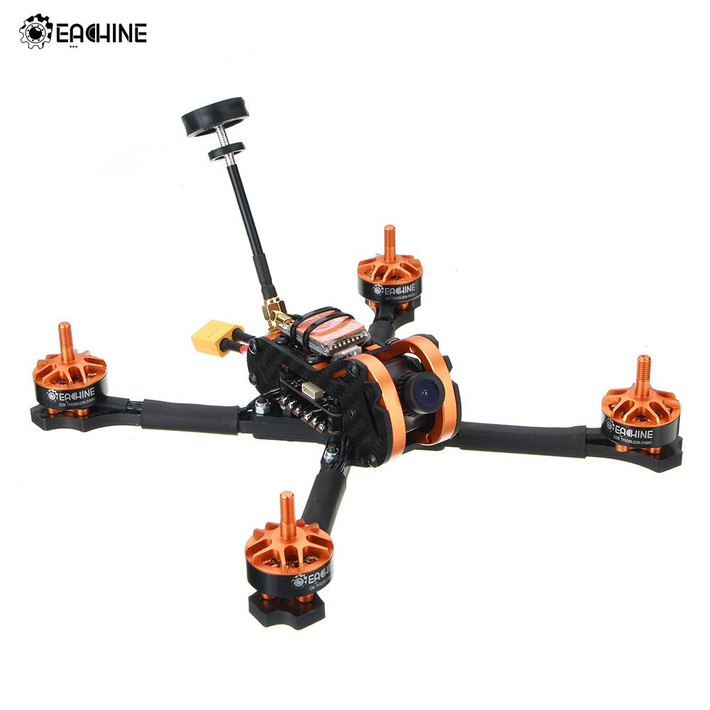 Eachine Tyro99 210mm DIY Version FPV Racing RC Drone Quadcopter F4 OSD 30A BLHeli_S 40CH 600 mW VTX 700TVL caméra