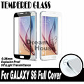 0.26mm 2.5d nueva reforzado con impresión de la pantalla de vidrio templado para samsung galaxy s6 g9200 sm-g920 completo cubierta de cristal templado de cine