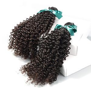 Image 3 - Rosa güzellik saç moğol Afro Kinky kıvırcık saç uzantıları % 100% İnsan Remy saç 1 3 4 demetleri doğal renk saç 10 28 inç