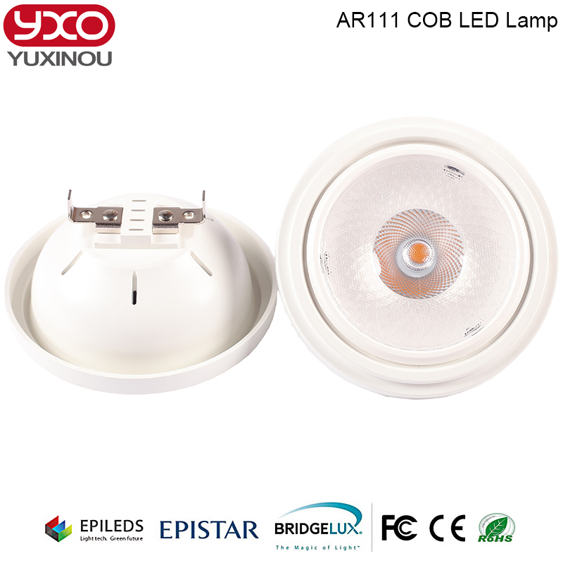 15W LED COB AR111 Spotlight G53 Aluminum Alloy 85-265V Warm/Cold white 30 Degree Replace 100W Halogen for Home Business Lighting free shipping dimmable cob 15w ar111 warm cold white led spotlight replacement 50w ar111 lamp accent lighting led home light