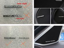 new styles 10pcs/lot harman/kardon Hi-Fi Speaker audio Speaker 3D Aluminum Badge Emblem stereo sticker 44x5mm(China)