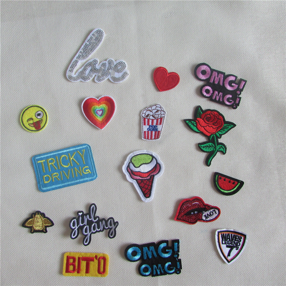 Year new arrival mixed decorate patch hot melt