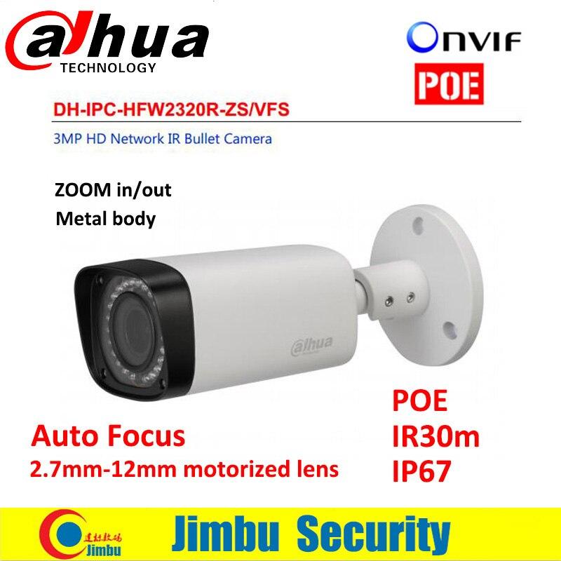 Dahua IP Camera IPC-HFW2320R-ZS Manual/Motorized/Fixed Iris IR30m 2.7~12mmlens Micro SD card slot H.264 3MP IP67 PoE HFW2320R-ZS dahua motorized lens 2 7mm to 12mm ip camera ipc hfw2320r zs 3mp poe cctv ip camera ir 30m day night vision security ip camera