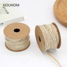10M cuerda de yute pescado seda cáñamo cintas para tapicería cinta rollo cuerda rústica decoración de boda Vintage decoración de la boda accesorios de mesa
