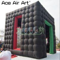 Новое поступление надувной куб дом палатка, квадратный выставочный куб шатер с двери и окна для торговых шоу