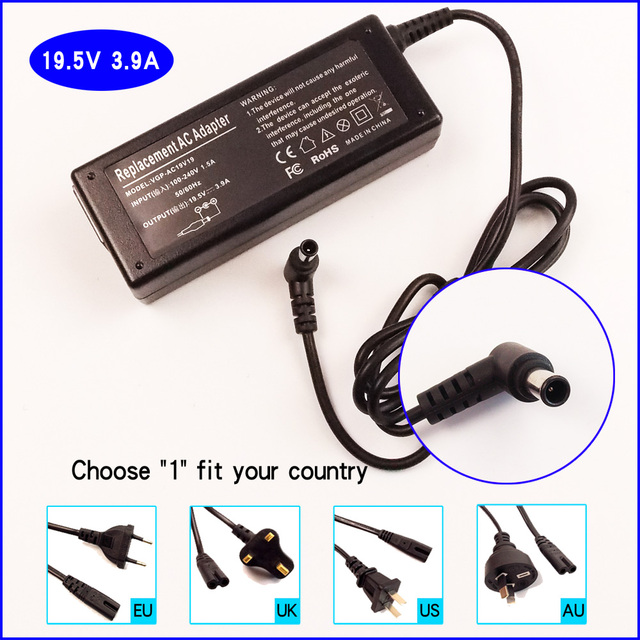 Us 1459 195v 39a Laptop Pc Ac Power Adapter Battery Charger For Sony Vaio Vgn Cs Vgn Nr Vgn Nw Vgn S3 Vgn S4 Vgn S5 Pcg Grx Vgn Ns In Laptop