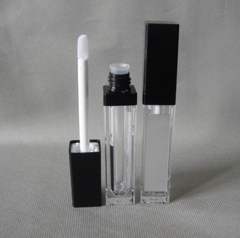 50PCS 8ML high-grade diamond crystal square lip gloss bottle ,thickness wall and with mirror 8ml empty lip gloss tube