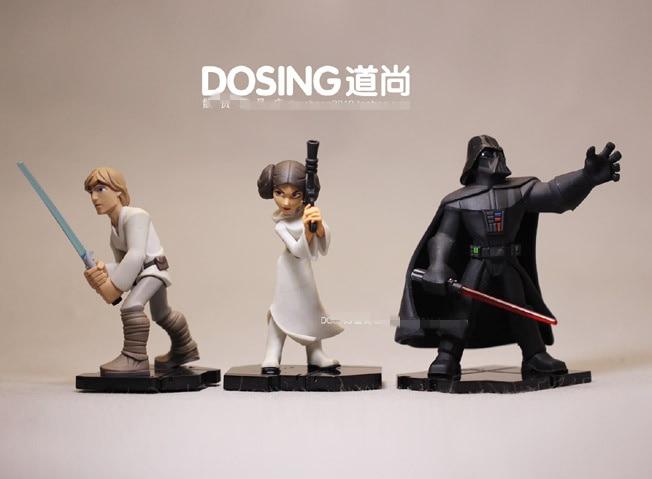 Freies verschiffen 9-10 cm star wars Luke Skywalker Darth Vader Leia prinzessin Hot Film Sammeln Vinyl pvc Action figur Spielzeug