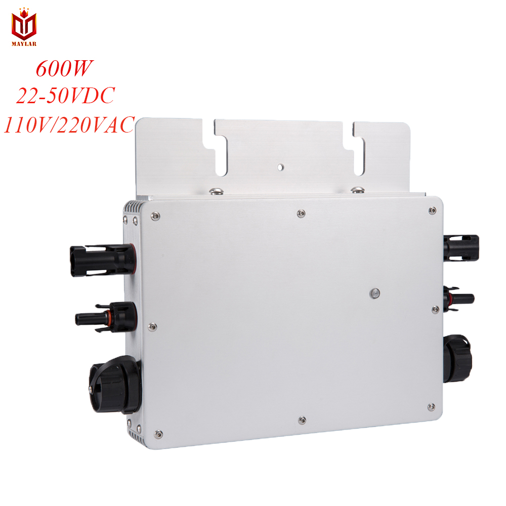 MAYLAR Maysun600W Solar Grid Tie Micro Inverter With 2 MPPT Output Pure Sine Wave Solar Converter