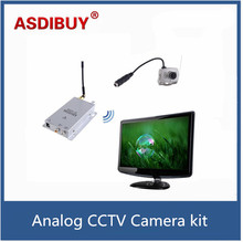 Traditional surveillance Wireless Mini camera and Wireless Receiver CCTV Security Kit 1.2G CMOS mini camera analog camera kit