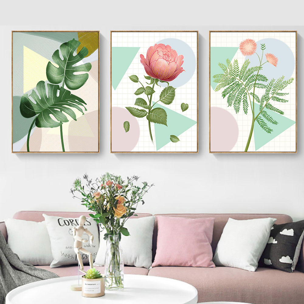 Flower Canvas Painting Nordic Posters And Prints Art Plant Pictures Wall Decor For Living Room Poster Watercolor Unframed