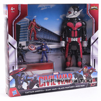 Marvel Avengers Ant Man Sert Giant Man and Small Iron Man Captain America Black Panther PVC Action Figure Toy