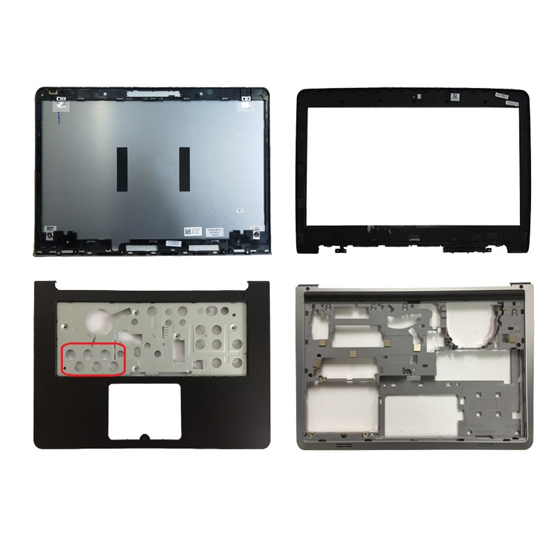 NEW shell For Dell Inspiron 14 5000 5447 5445 5448 LCD Top Cover/LCD front bezel/Palmrest Upper no Touchpad/bottom case cover image