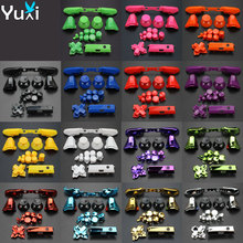 YuXi For Xbox One S Replacement Full Chrome Buttons Kit ABXY Trigger analog stick Parts for Xbox One Slim недорого