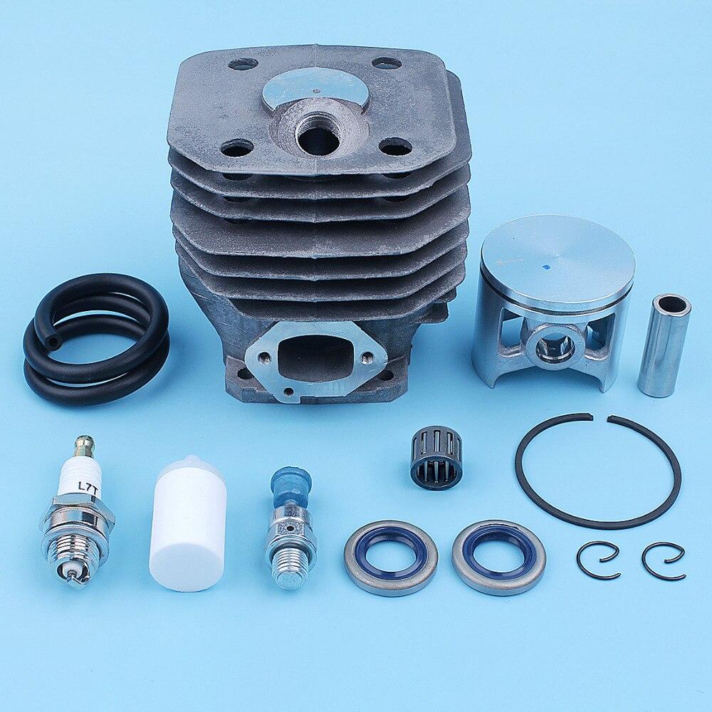 מזגנים ערכת Bearing 48mm צילינדר בוכנה עבור 261 הוסקוורנה 262 262XP המנסרים שמן חותם דלק קו צינורות הלחץ שסתום 503 54 11 72 (2)