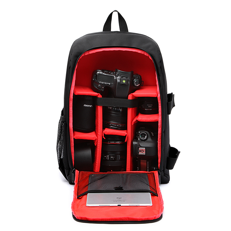 Popular New Professional Waterproof Photography Camera Bags Female Mens Computer Bag 15-inch Backpack W/rain Cover Camera/video Bags Accessories & Parts