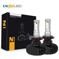 CN360 2 ADET 50 W 8000 Lümen H7 LED Oto Kafa Lambası Araba Far kiti Sis Ampul 12 V 6500 K Mini Boyutu Tak & Çalıştır