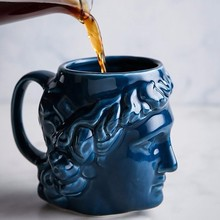 580ml Greek Statue Cups Ceramic Office Drinking Cup Breakfast Milk Coffee Mug And Mugs Awesome Birthday Present