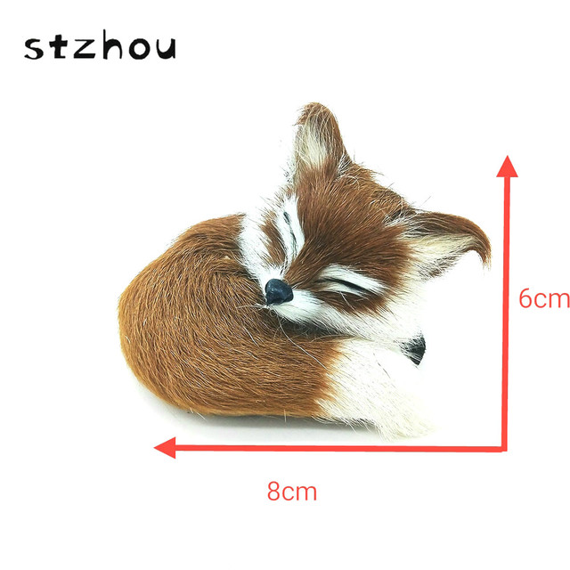 StZhou Super Cute Simulation Fox  Toys Kids Appease Doll Christmas Birthday Gifts