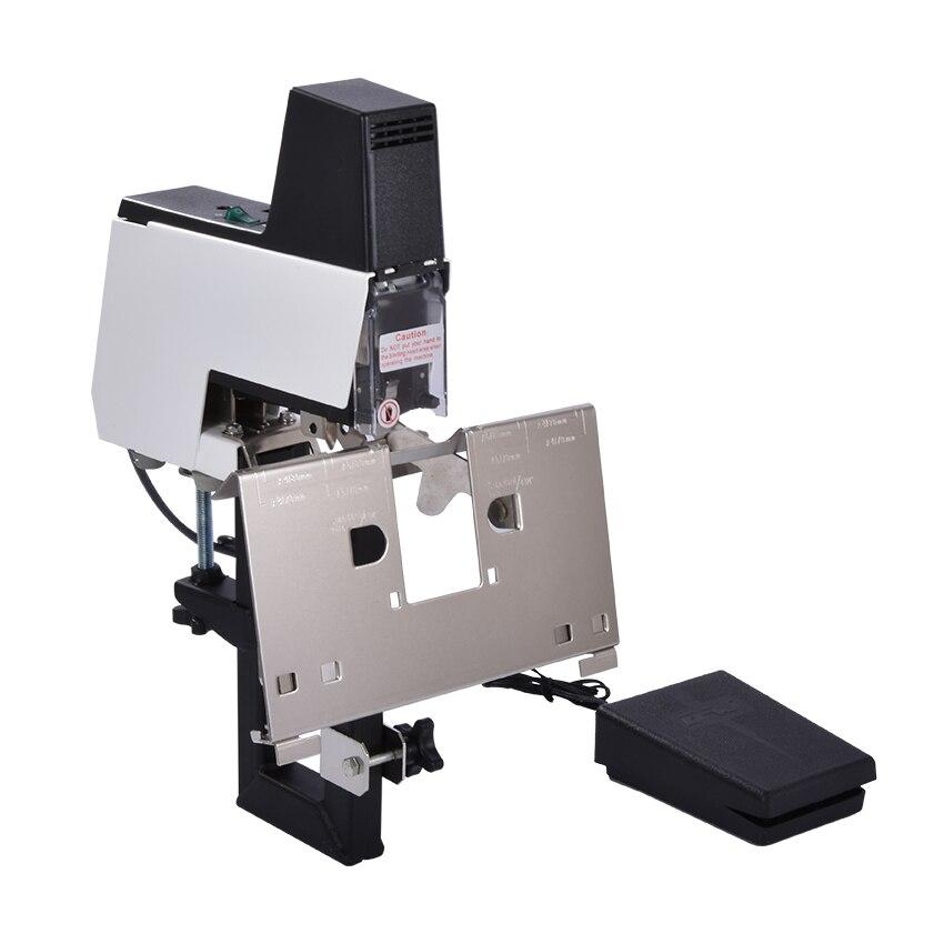 Bilgisayar ve Ofis'ten Ciltleme Makinesi'de Elektrikli Otomatik Hızlı Zımba Ciltleme Makinesi Kitap Ciltleme Makinesi 106E 2 40 Sayfa Ağır Elektrikli Düz ve Eyer zımba title=