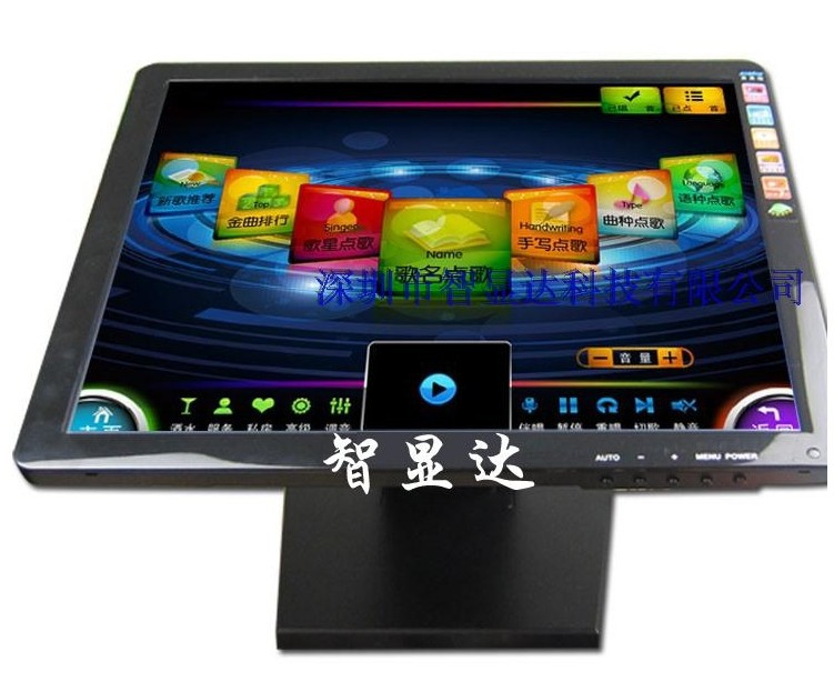 PAL/ NTSC support glossy appearance digital 15 touch lcd monitor