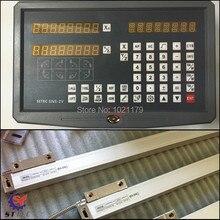 Бесплатная доставка высокая точность инструментов токарный станок и мельницы 2 оси УЦИ цифровой индикации с 2 шт. линейные стеклянные весы