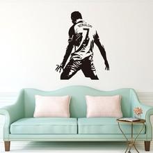 Wall Sticker Custom-made Real Madrid Cristiano Ronaldo CR7 Footballer Stickers For Bedroom Home DIY Poster