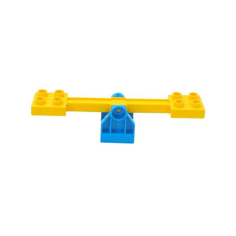 Legoing Duplo akcesoria zabawki seria dom slajdów figurki Duplo parki klocki przyjaciel edukacyjne dziecko Diy kreatywne cegły