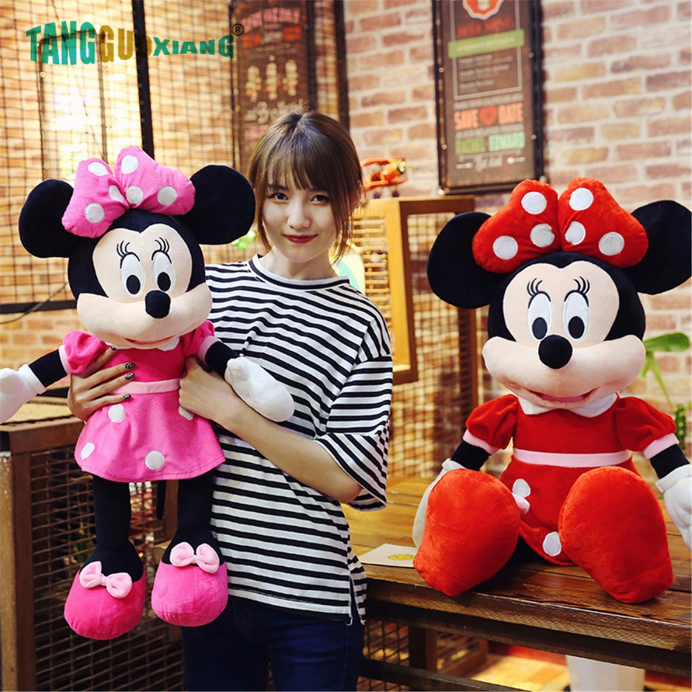 40-70cm New Lovely Mickey Mouse And Minnie Mouse Plush Toys Stuffed Cartoon Figure Dolls Kids Christmas Birthday Gift