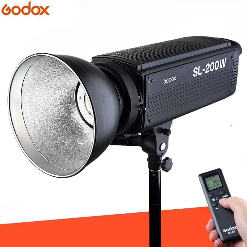 Godox SL-200W Blanc Version LCD Panneau LED Vidéo Lumière Sans Fil Contrôle pour le Mariage, Journalistique, Enregistrement Vidéo Photo Studio