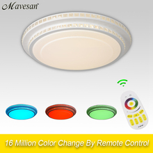 NEW Modern LED Ceiling Light  With 90-260V Dimmable Color Changing rgb ceiling lamps modern  For Livingroom Bedroom