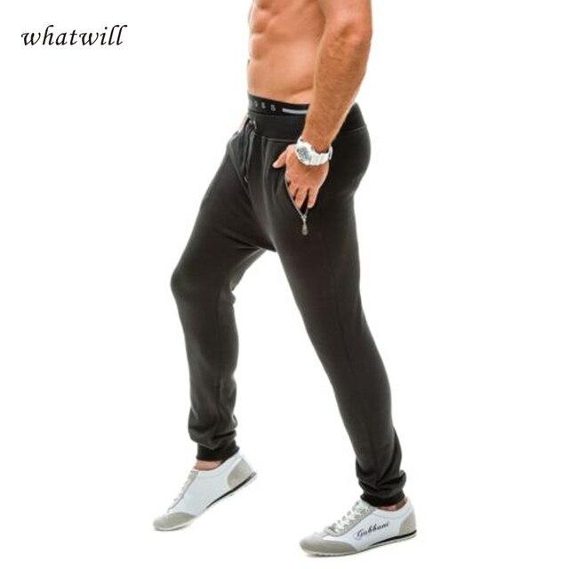 Брюки тренировочные брюки мода 2017 брюки мужчины hip hop бегунов повседневная pantalones hombre брюки sportwear