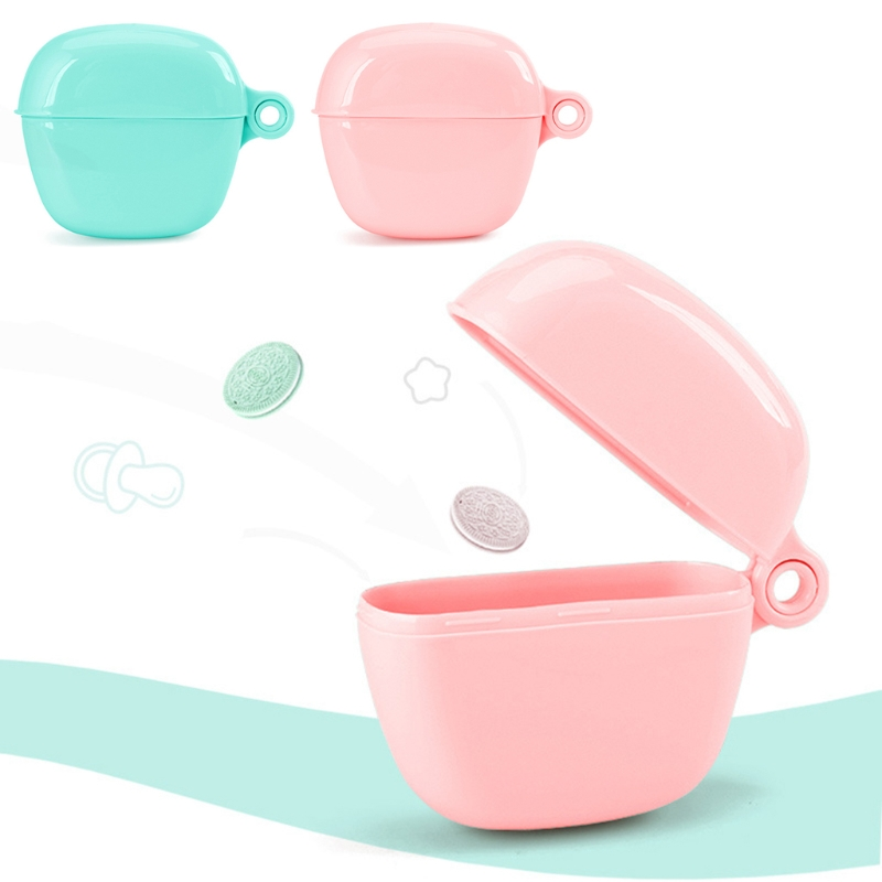 2018 new Pacifier Storage Box Nipple Dustproof Soother Crib Case Outdoor Portable Holder ...