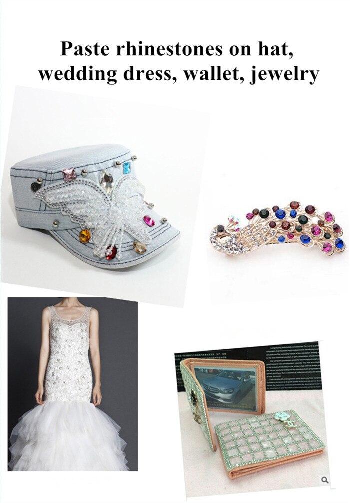 adesivo jóias artesanato cristal strass diy fix